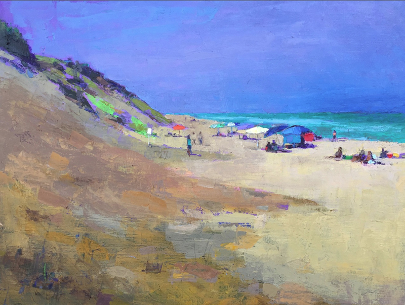 "Sunny August Morning oil on canvas 24""x32"" Larry Horowitz"