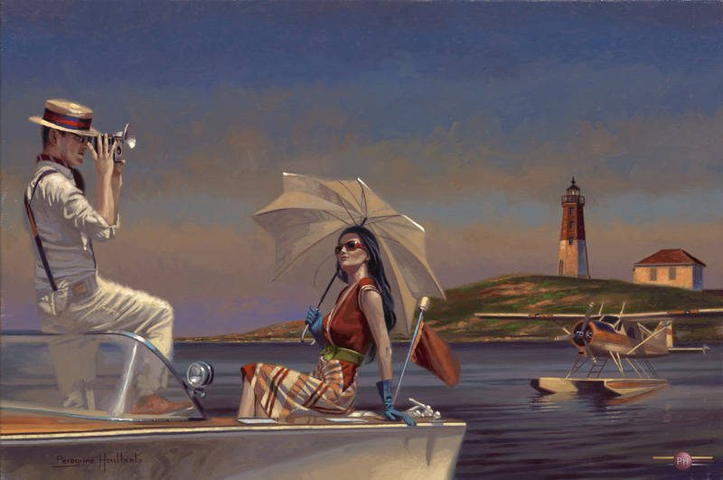 "Time To Take Our Time oil on canvas 20""x30"" Peregrine Heathcote"